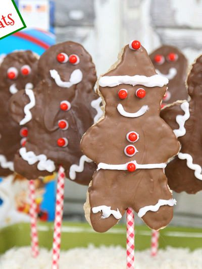 Gingerbread Boy Christmas Rice Krispies Treats