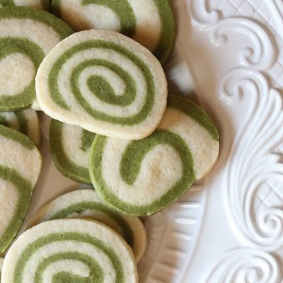 Spiral Matcha Green Tea Cookies