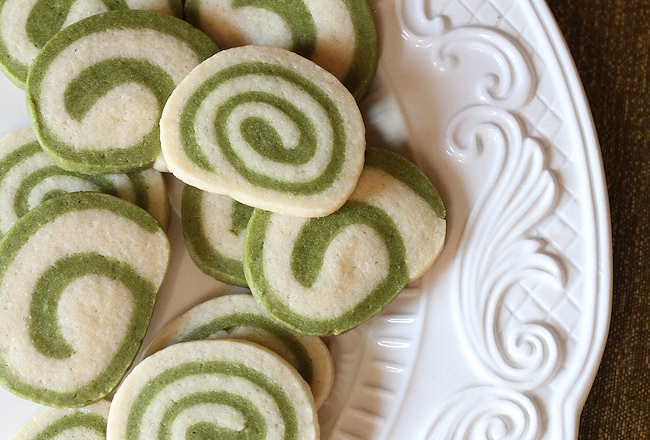 Matcha Green Tea Cookies Recipe - Spiral Cookies