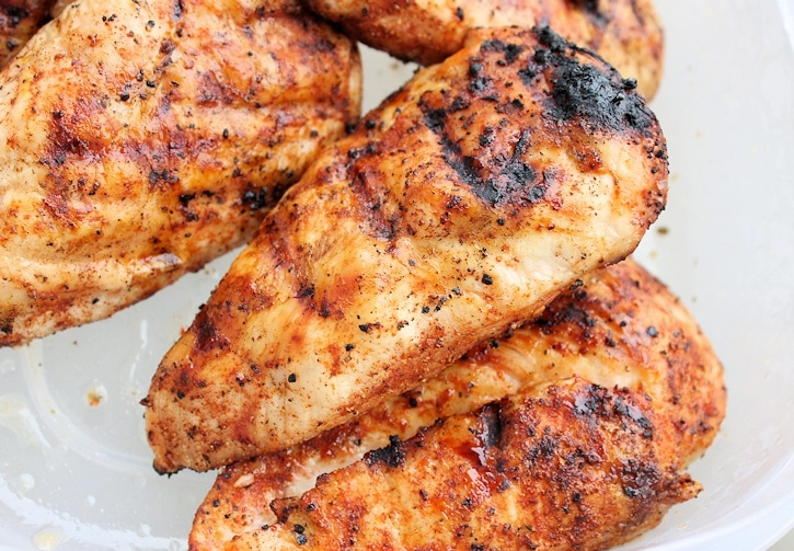 grilled chicken with dry rub