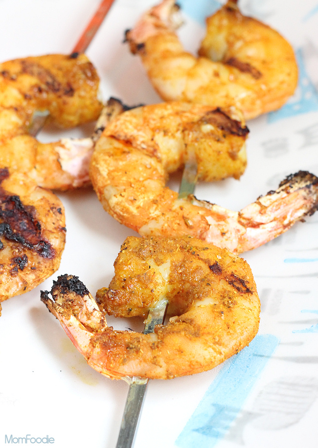 grilled curry shrimp
