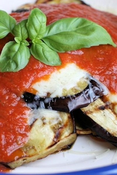 Grilled Eggplant Parmesan Recipe: Low Carb Vegetarian Dinner