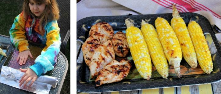 grilling sweet corn
