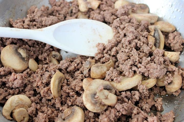 hamburger for Philly Cheesesteak casserole