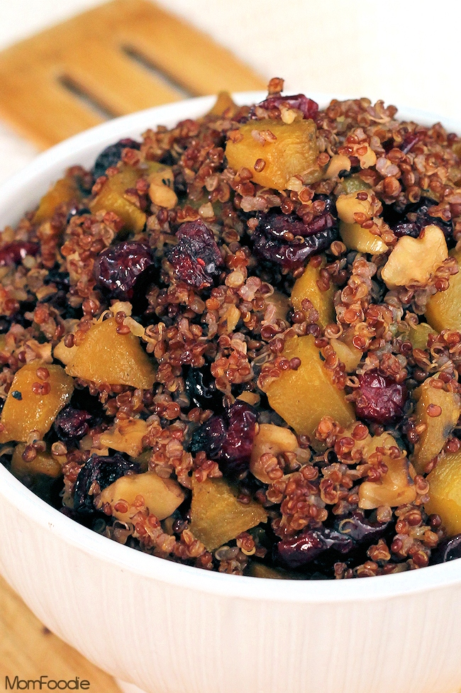 Cranberry Quinoa Recipe with golden beets: gluten free stuffing