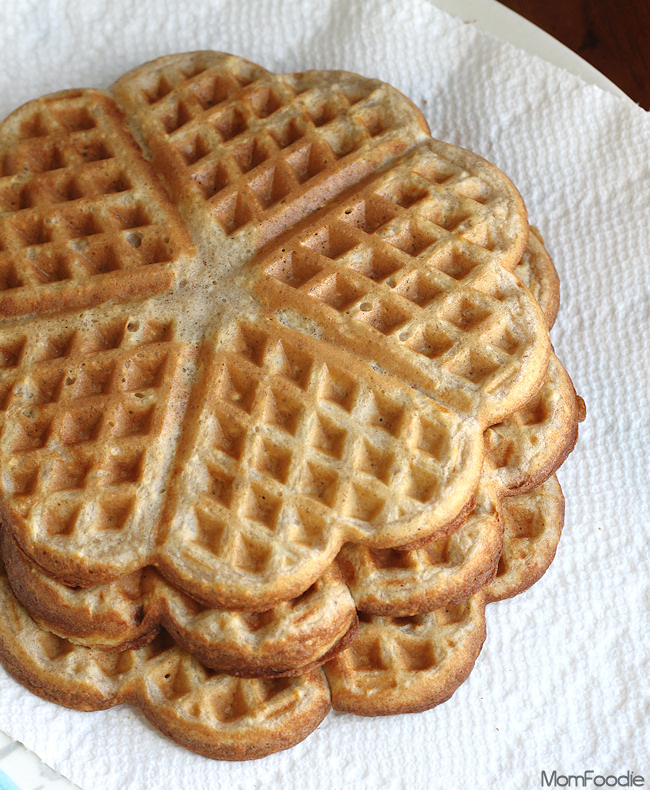 heart shaped oatmeal waffles