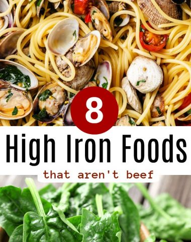 high iron foods that aren't beef