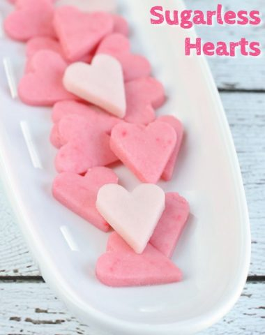 Homemade Sugarless Hearts
