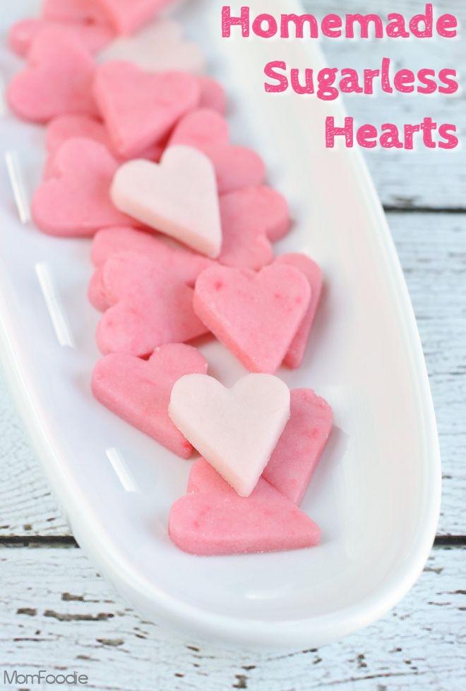 Homemade Sugarless Hearts