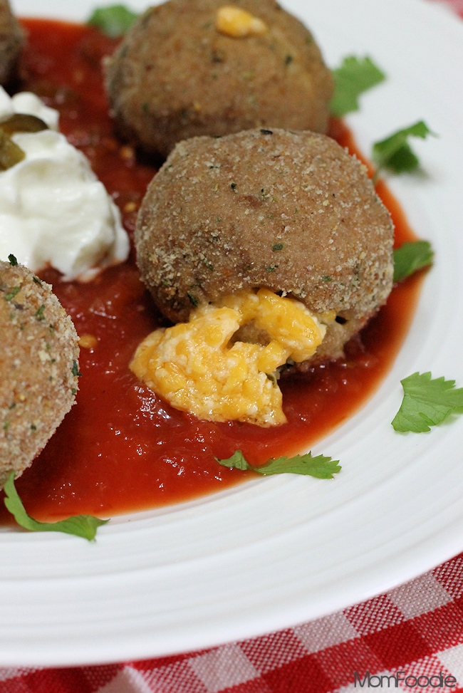 jalapeno popper turkey meatballs