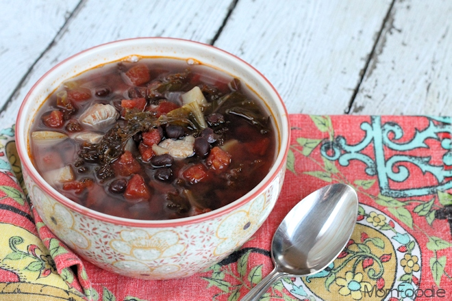 kale & black bean chicken soup