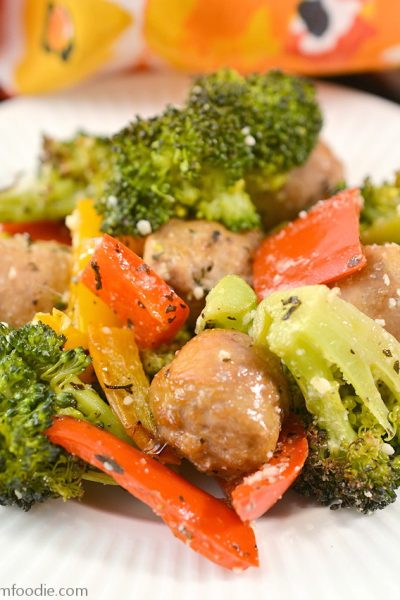 keto Sheet Pan Sausage and Vegetables