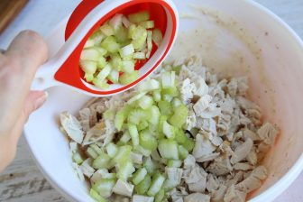 add chicken and celery