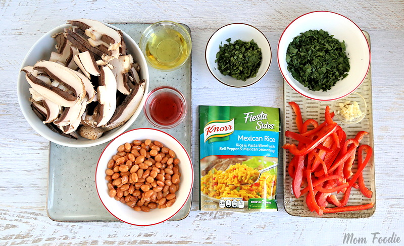 Knorr Chimichurri Portabella Rice ingredients