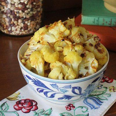 Lemon Curry Roasted Cauliflower