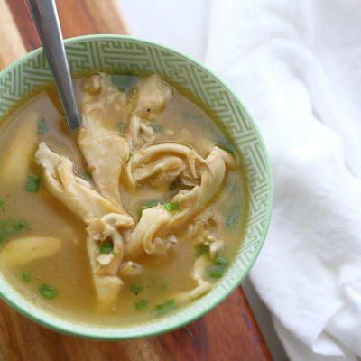 lemon oyster mushroom soup