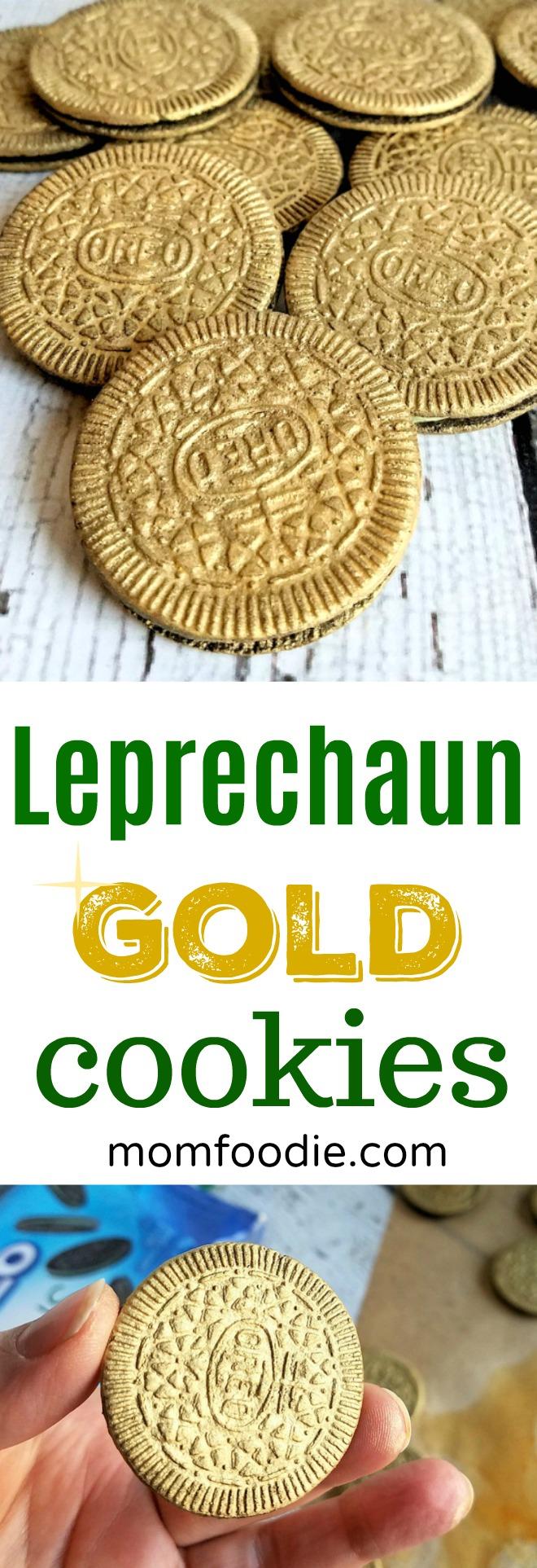 Leprechaun Gold St Patricks Day Cookies #stpatricksday #leprechaun #cookies #stpatricks #oreos