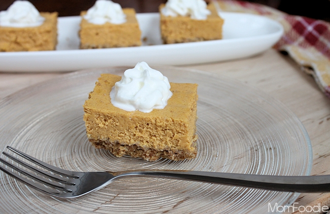 Light pumpkin cheesecake bars recipe a diet friendly fall dessert save aloadofball Gallery
