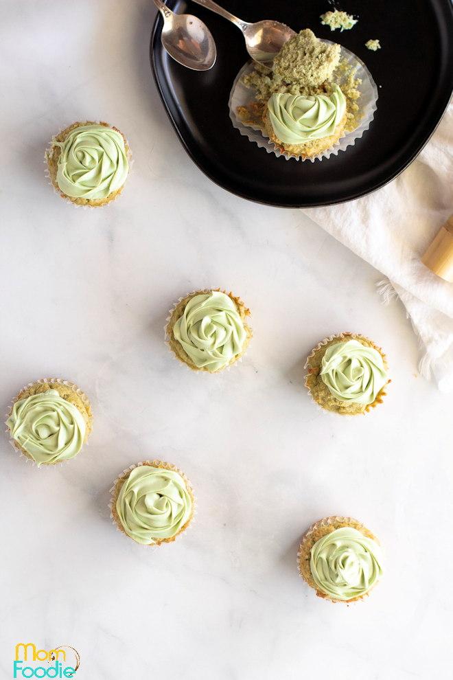 low carb matcha cupcakes