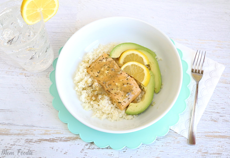 low carb salmon bowl