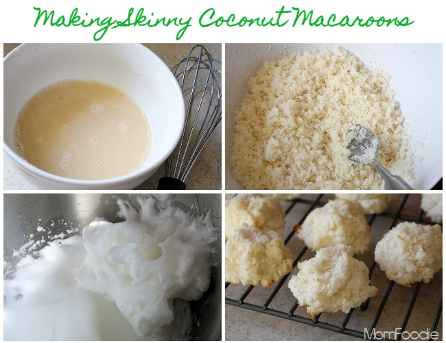making coconut macaroons