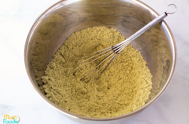 matcha cupcakes dry ingredients
