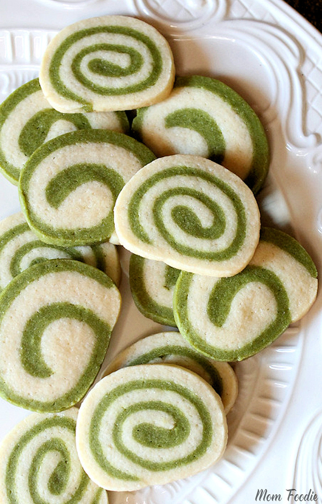 Spiral Matcha Green Tea Cookies Recipe