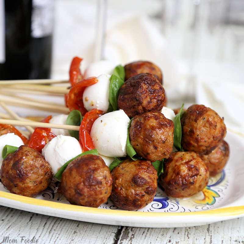 caprese chicken meatball appetizers