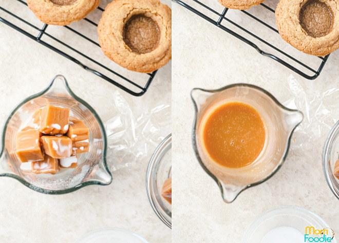melt caramel filling