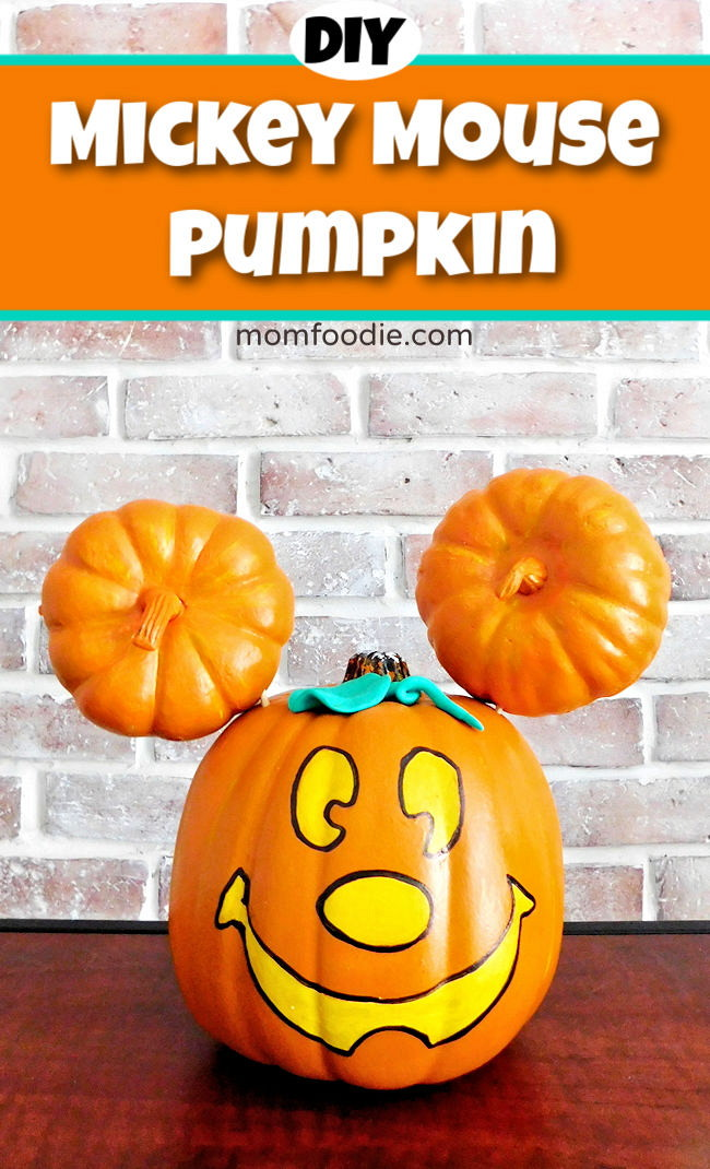 Mickey Mouse Pumpkin Diy Painted Mickey Jack O Lantern Mom Foodie