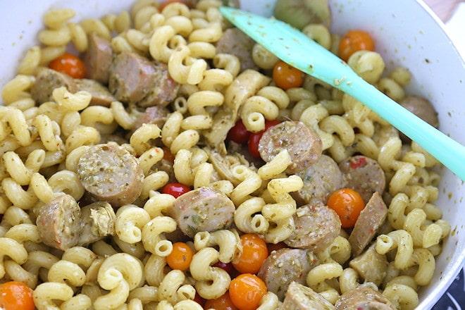 mix in pasta