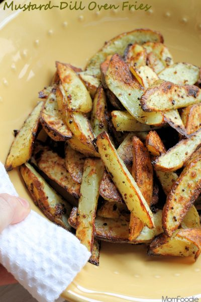 mustard dill oven fries