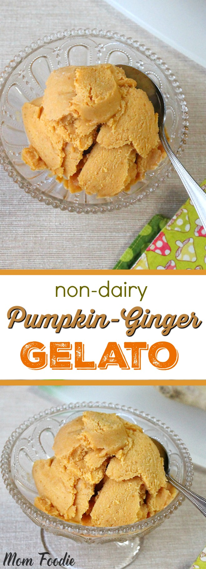non-dairy Pumpkin-Ginger Gelato