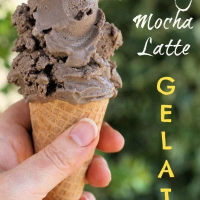 non-dairy mocha latte gelato