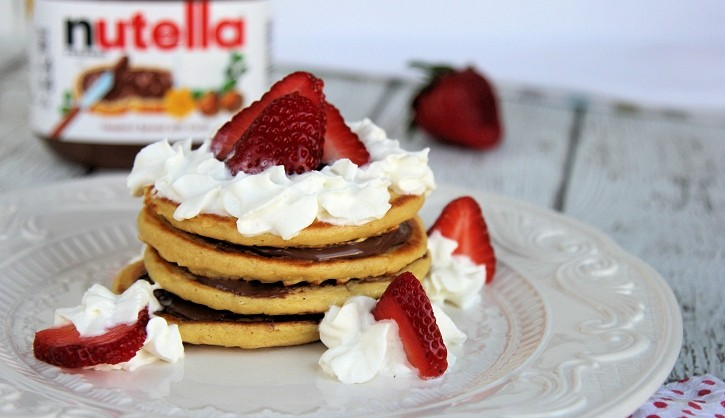 nutella pancake stack feature
