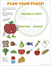 nutrition activity printable for kids