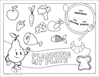 nutrition coloring page pdf - Nutrition Coloring Pages Kids