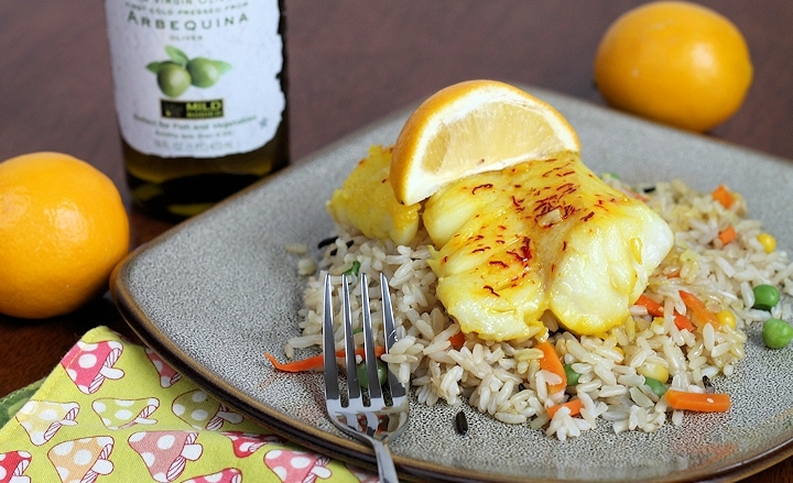 Saffron Cod - pan fried