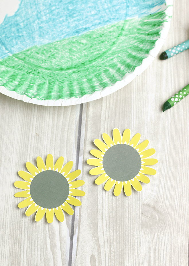 paper plate sunflower craft for kids