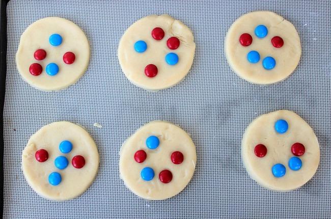 patriotic ice cream sandwich cookies