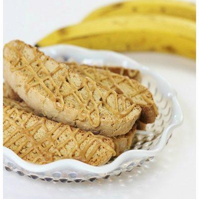 peanut butter banana biscotti