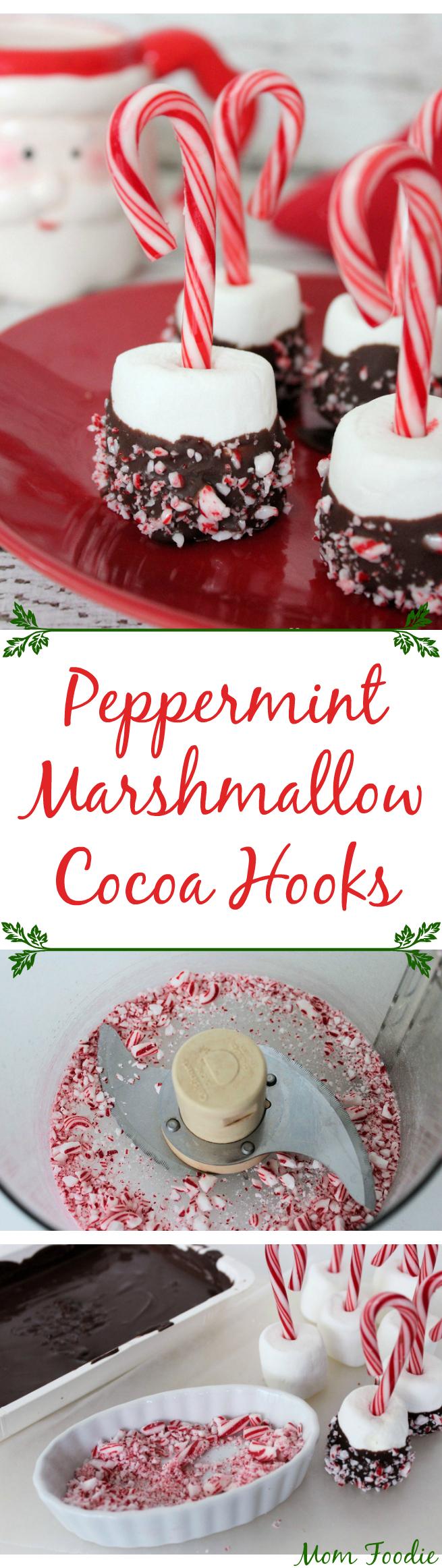 peppermint marshmallow cocoa hooks
