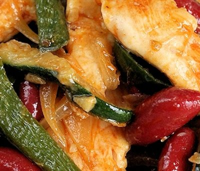 Chicken, Poblano & Bean Stir Fry