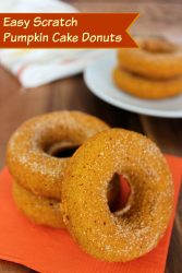 easy scratch pumpkin cake doughnuts