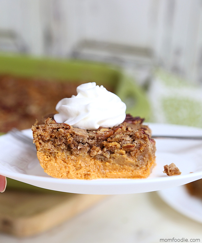 pumpkin dump cake with pecans