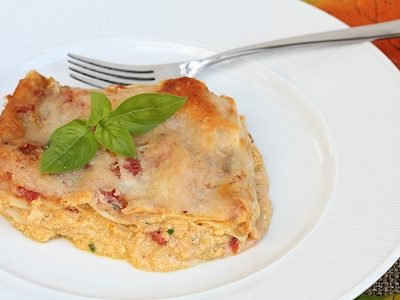 Creamy Tomato & Cheese Pumpkin Lasagna Recipe
