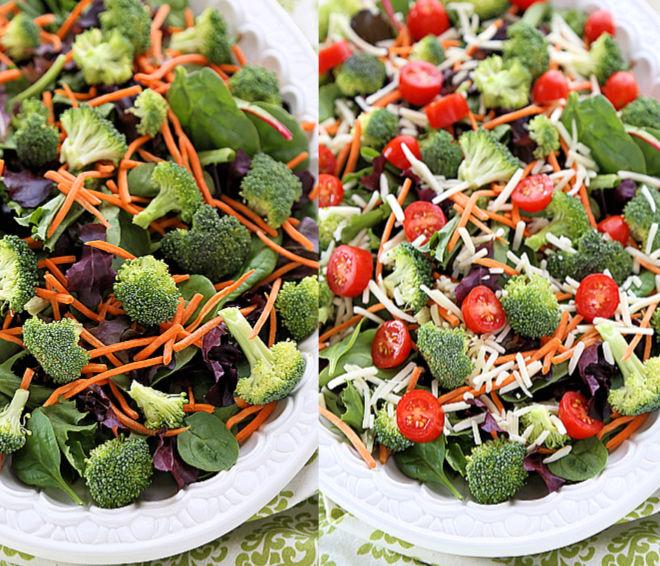 ranch salad preparation