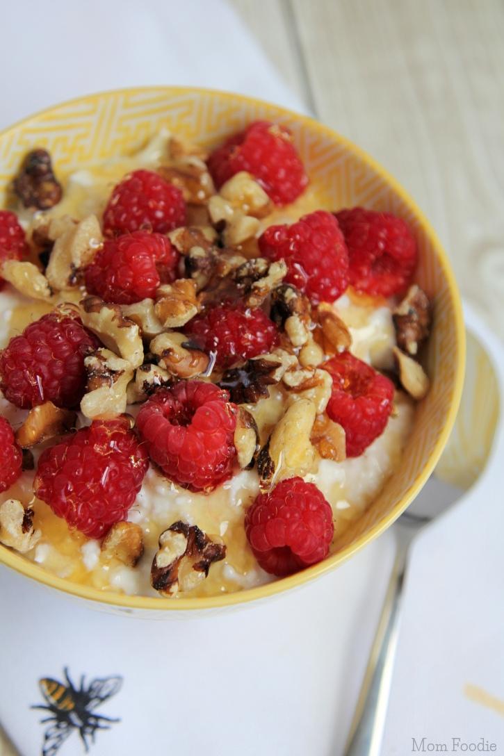 raspberry walnut cottage cheese