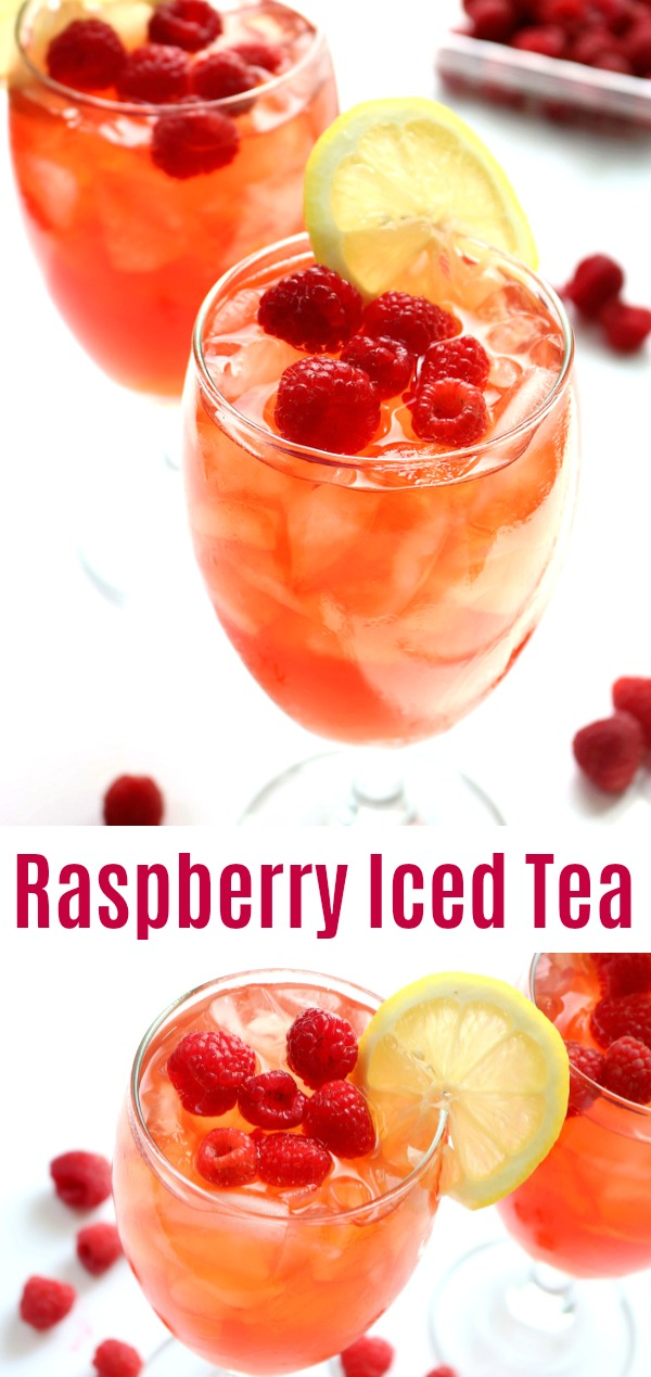 rasperry iced tea pinterest