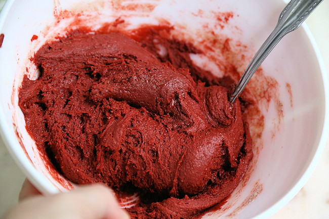 red cookie dough